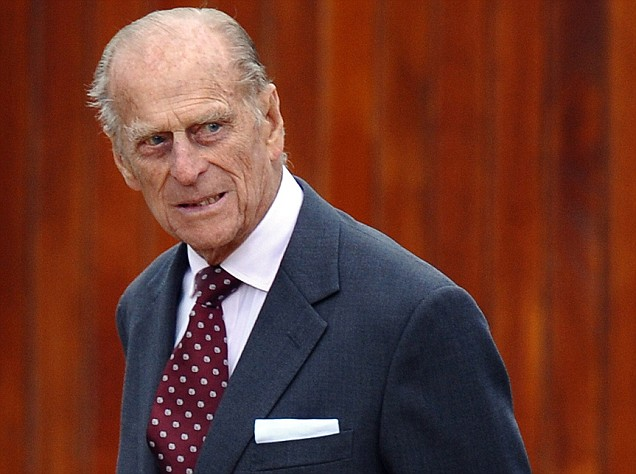 Prince Philip watching out for a blue-arsed fly, perhaps