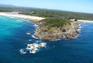 A headland in Saltwater National Park, NSW