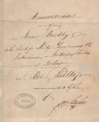 Title page of Langhorne's manuscript: 'Reminiscences of James Buckley...'. Source: State Library of Victoria