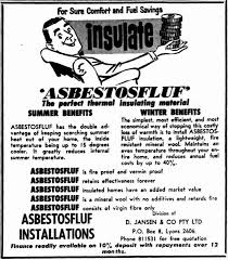 A Mr Fluffy ad for loose-fill asbestos insulation
