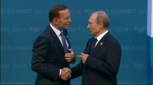 Prime Minster Abbott and President Putin at the G20 Summit in Brisbane