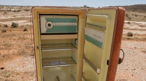 A refrigerator in the outback. Source: Michael Perini (news.com.au)