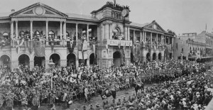 The first Anzac Day parade in Brisbane, 1916. Source: National Archives of Australia