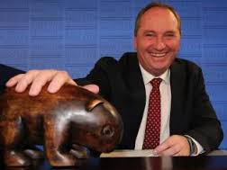 Barnaby Joyce and wombat