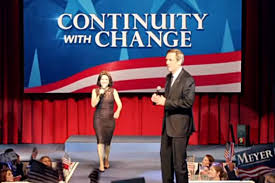 Veep's Selina Meyer and her campaign slogan