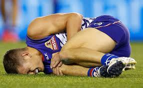 Western Bulldogs Midfielder Clay Smith with a torn ACL.